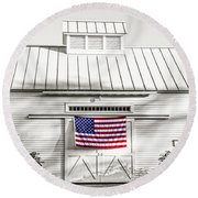 Old Glory Circa 1776 Round Beach Towel
