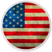 Old Glory Round Beach Towel by Dan Sproul