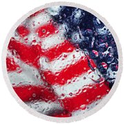 Old Glory Impression Round Beach Towel