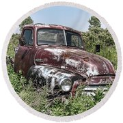 Old Gmc Truck Round Beach Towel