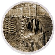 Old Grist Mill Photo Round Beach Towel