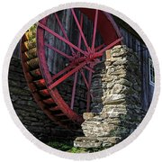 Old Grist Mill Vermont Round Beach Towel