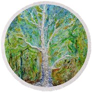 Old Growth Round Beach Towel