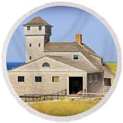 Old Harbor Lifesaving Station--cape Cod Round Beach Towel