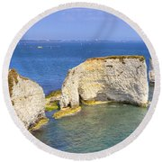 Old Harry Rocks - Purbeck Round Beach Towel