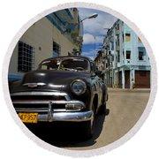 Old Havana Round Beach Towel