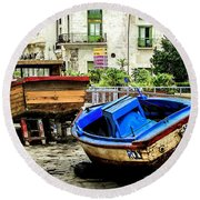 Old Havana Round Beach Towel