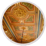 Old House Of Delegates Room Of The Maryland State House Round Beach Towel