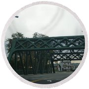 Old Iron Bridge Round Beach Towel