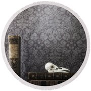 Old Library Round Beach Towel