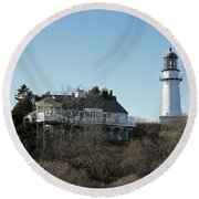 Old Lighthouse Round Beach Towel