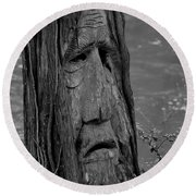 Old Man River Round Beach Towel