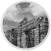 Old Marble Mill Round Beach Towel