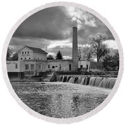 Old Mill And Banquet Hall Round Beach Towel