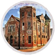 Old Mill Museum Round Beach Towel