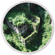 Old Mill Of Sorrento Round Beach Towel