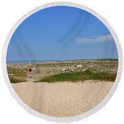 Old Mission 2005 Round Beach Towel