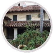 Old Mission Santa Barbara Round Beach Towel