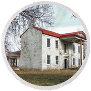 Old Missouri Mansion Round Beach Towel