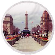 Old Montreal. Round Beach Towel