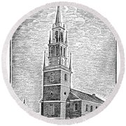 Old North Church, 1775 Round Beach Towel