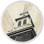 Old North Church In Boston Round Beach Towel