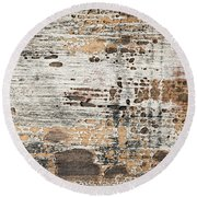 Old Painted Wood Abstract No.1 Round Beach Towel by Elena Elisseeva