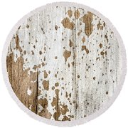Old Painted Wood Abstract No.3 Round Beach Towel