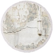 Old Pipes Background Round Beach Towel