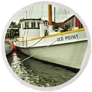 Old Point St. Michaels Round Beach Towel