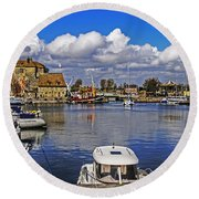 Old Port Holiday Round Beach Towel