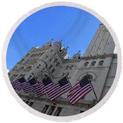 The Old Post Office Or Trump Tower Round Beach Towel