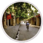 Old Quarter Of Hoi An Round Beach Towel