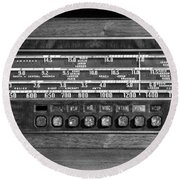 Old Radio Change The Station Round Beach Towel