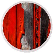 Old Red Barn One Round Beach Towel