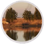 Old Roads And Bridges South Jersey Round Beach Towel