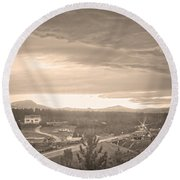 Old Rollinsville Colorado Round Beach Towel