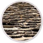 Old Roof Round Beach Towel