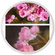 Old Roses Vertical Round Beach Towel
