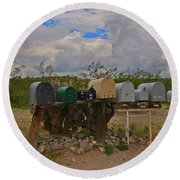 Old Rural Route Round Beach Towel
