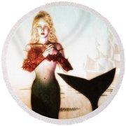Old Sailors Dream - The Mermaid Round Beach Towel