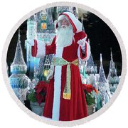 Old Saint Nick Walt Disney World Digital Art 02 Round Beach Towel