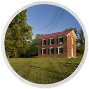 Old Schoolhouse Round Beach Towel by Brian Jannsen