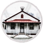 Old Schoolhouse Chester Springs Round Beach Towel