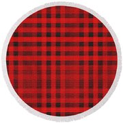 Old Scottish Cage Round Beach Towel