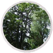 Old Section Mt Hope Cemetery Round Beach Towel