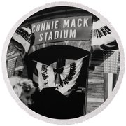 Old Shibe Park - Connie Mack Stadium Round Beach Towel