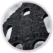 Old Slate Mill Round Beach Towel by Dave Bowman