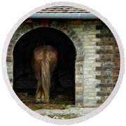 Old Stable Round Beach Towel