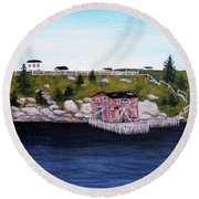 Old Stage And Storeloft Round Beach Towel